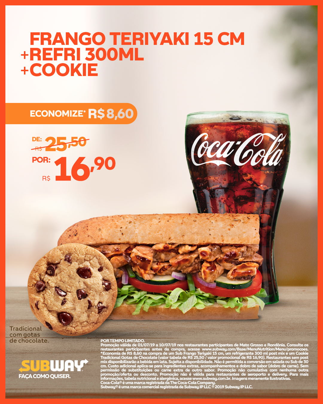 Subway - combo frango Teriaki